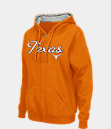 Women's Stadium Texas Longhorns College Cotton Full-Zip Chevron Hoodie