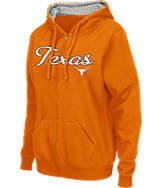Women's Stadium Texas Longhorns College Cotton Full-Zip Chevron Hoodie