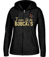 Women's J. America Texas State Bobcats College Cotton Full-Zip Hoodie