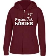 Women's J. America Virginia Tech Hokies College Cotton Full-Zip Hoodie
