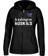 Women's J. America Washington Huskies College Cotton Full-Zip Hoodie