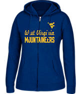 Women's J. America West Virginia Mountaineers College Cotton Full-Zip Hoodie