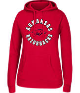 Women's J. America Arkansas Razorbacks College Cotton Pullover Hoodie