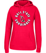 Women's J. America Ball State Cardinals College Cotton Pullover Hoodie