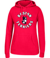 Women's J. America Boston Terriers College Cotton Pullover Hoodie