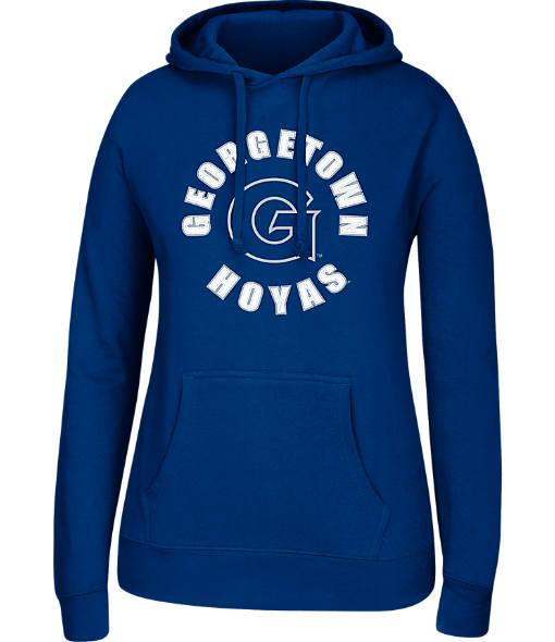 Women's J. America Georgetown Hoyas College Cotton Pullover Hoodie