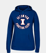 Women's J. America Illinois Fighting Illini College Cotton Pullover Hoodie