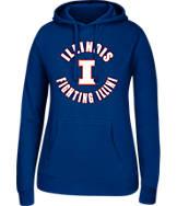 Women's J. America Illinois Fighting Illini College Cotton Pullover Hoodie