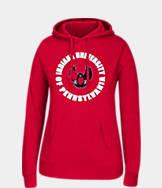 Women's J. America Indiana University of Pennsylvania Crimson Hawks College Cotton Pullover Hoodie