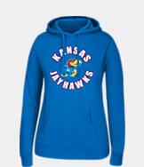 Women's J. America Kansas Jayhawks College Cotton Pullover Hoodie