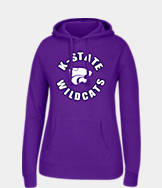 Women's J. America Kansas State Wildcats College Cotton Pullover Hoodie