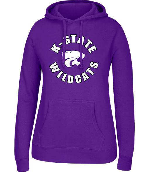 Women's J. America Kansas State Wildcats College Cotton Pullover Hoodie