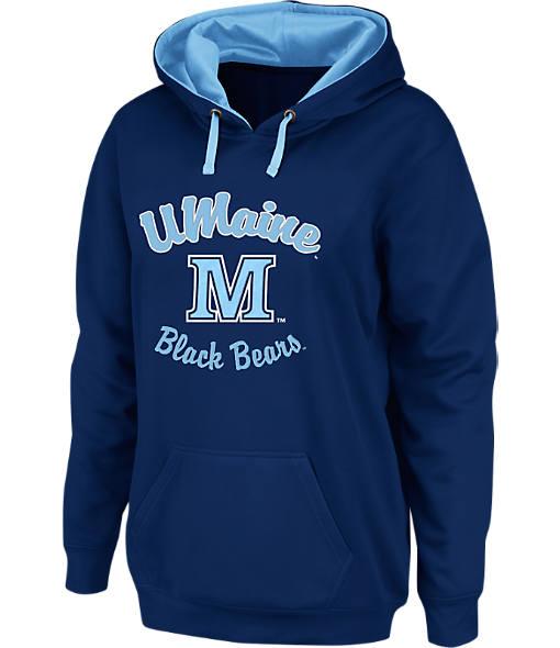 Women's Stadium Maine Black Bears College Cotton Pullover Hoodie