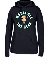 Women's J. America Marshall Thundering Herd College Cotton Pullover Hoodie