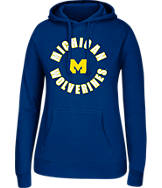 Women's J. America Michigan Wolverines College Cotton Pullover Hoodie