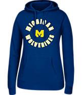 Women's J. America Michigan Wolverines College Cotton Pullover Hoodie