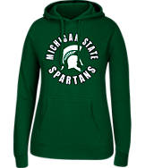 Women's J. America Michigan State Spartans College Cotton Pullover Hoodie