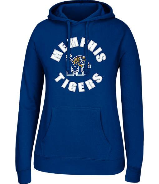 Women's J. America Memphis Tigers College Cotton Pullover Hoodie