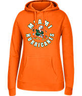 Women's J. America Miami Hurricanes College Cotton Pullover Hoodie
