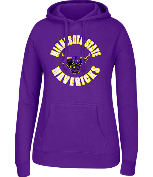 Women's J. America Minnesota State Mavericks College Cotton Pullover Hoodie