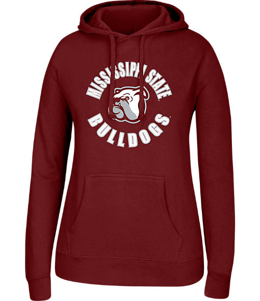 Women's J. America Mississippi State Bulldogs College Cotton Pullover Hoodie