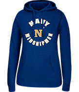 Women's J. America Navy Midshipmen College Cotton Pullover Hoodie