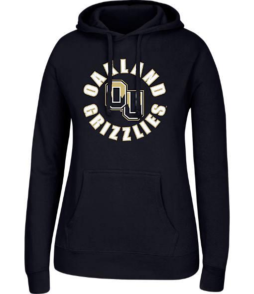 Women's J. America Oakland Golden Grizzlies College Cotton Pullover Hoodie