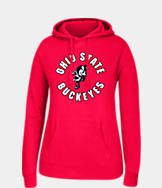 Women's J. America Ohio State Buckeyes College Cotton Pullover Hoodie