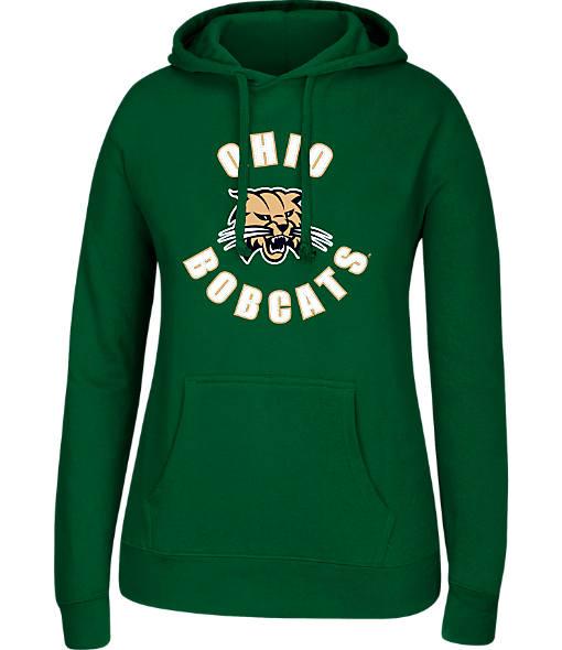 Women's J. America Ohio Bobcats College Cotton Pullover Hoodie