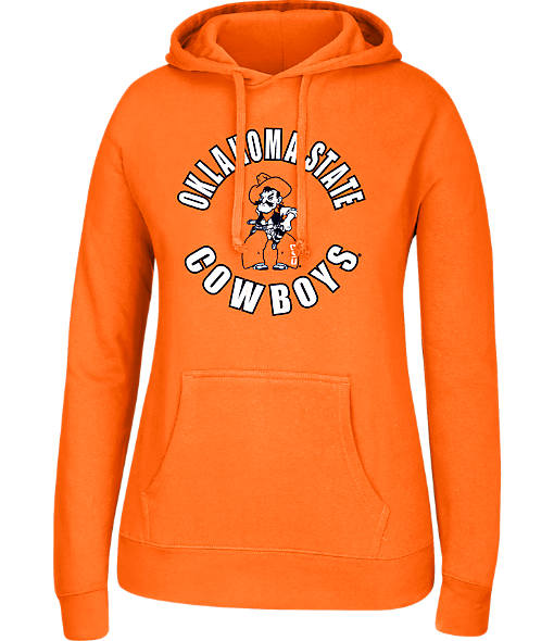 Women's J. America Oklahoma State Cowboys College Cotton Pullover Hoodie