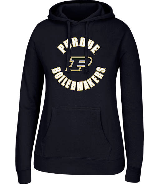 Women's J. America Purdue Boilermakers College Cotton Pullover Hoodie