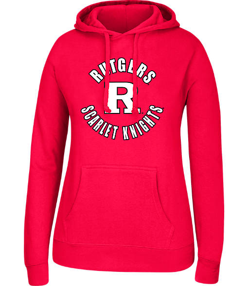 Women's J. America Rutgers Scarlet Knights College Cotton Pullover Hoodie