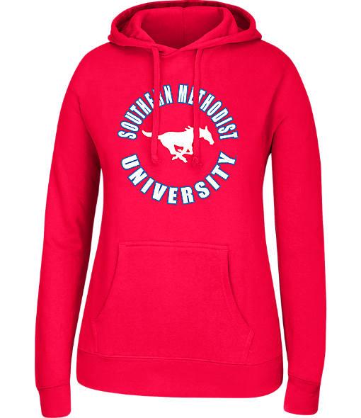 Women's J. America Southern Methodist Mustangs College Cotton Pullover Hoodie