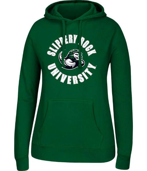 Women's J. America Slippery Rock University College Cotton Pullover Hoodie