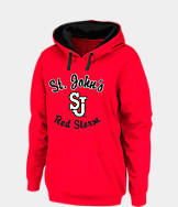 Women's J. America St. Johns Red Storm College Cotton Pullover Hoodie