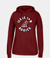 Women's J. America Texas A & M Aggies College Cotton Pullover Hoodie