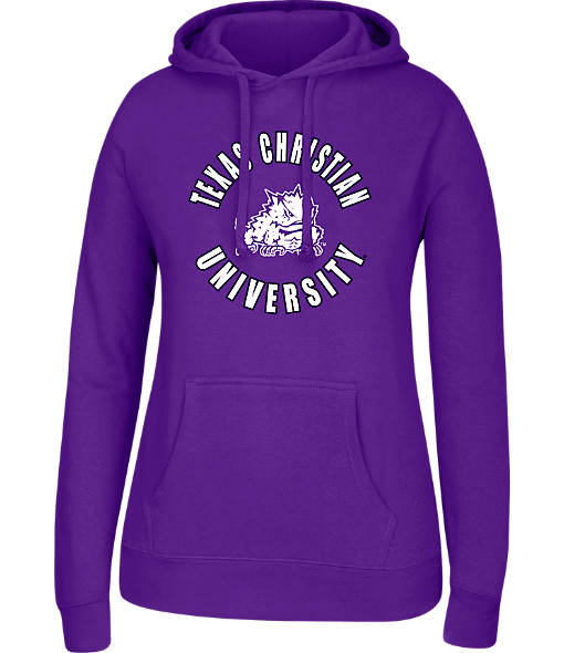 Women's J. America TCU Horned Frogs College Cotton Pullover Hoodie