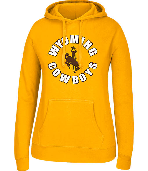 Women's J. America Wyoming Cowboys College Cotton Pullover Hoodie