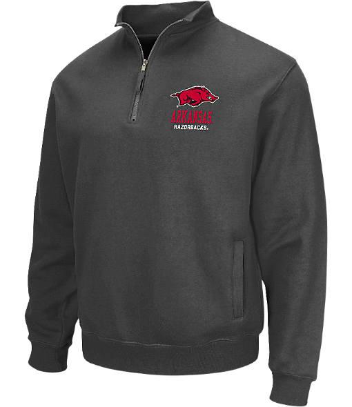 Men's Stadium Arkansas Razorbacks College Cotton Quarter Zip Sweatshirt