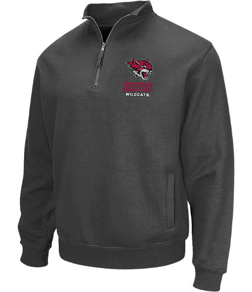 Men's Stadium Cal State Chico Wildcats College Cotton Quarter Zip Sweatshirt