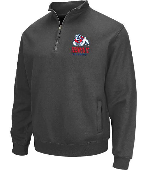 Men's Stadium Fresno State Bulldogs College Cotton Quarter Zip Sweatshirt