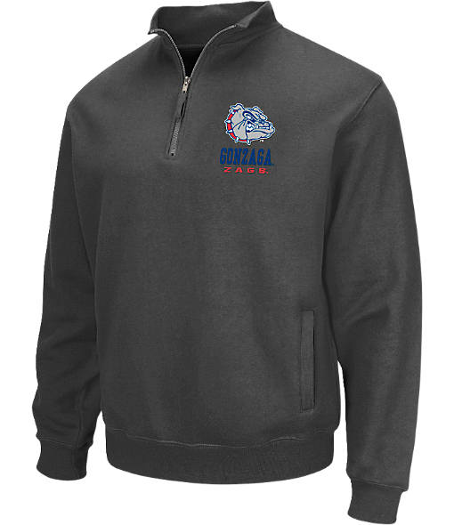 Men's Stadium Gonzaga Bulldogs College Cotton Quarter Zip Sweatshirt