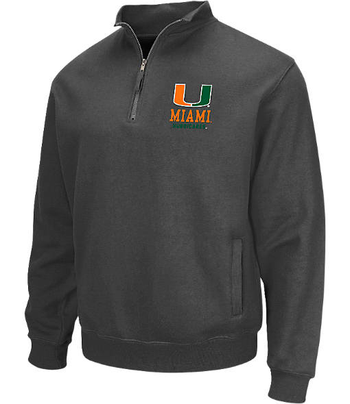 Men's Stadium Miami Hurricanes College Cotton Quarter Zip Sweatshirt