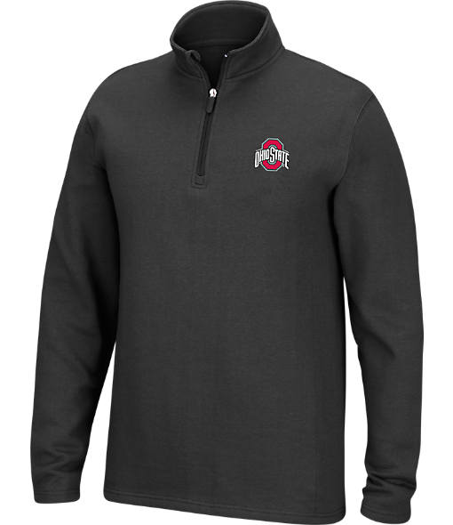 Men's J. American Ohio State Buckeyes College Cotton Quarter Zip Sweatshirt
