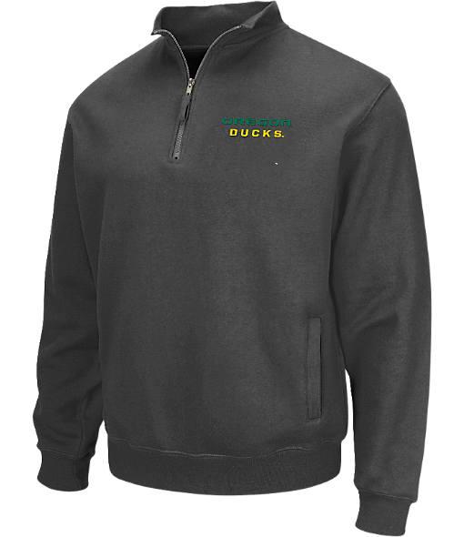 Men's Stadium Oregon Ducks College Cotton Quarter Zip Sweatshirt