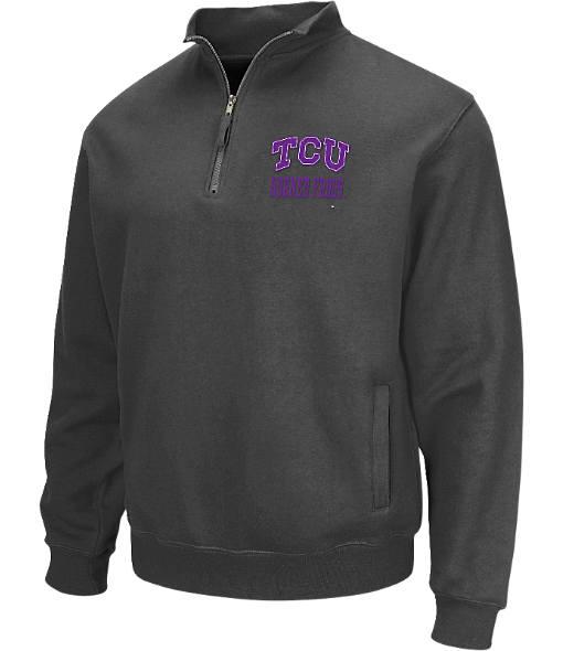 Men's Stadium TCU Horned Frogs College Cotton Quarter Zip Sweatshirt