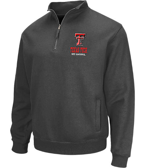 Men's Stadium Texas Tech Red Raiders College Cotton Quarter Zip Sweatshirt