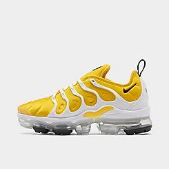 Womens 나이키 Nike Air VaporMax Plus Running Shoes,Speed Yellow/Black/White/Metallic Silver