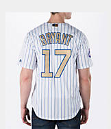 Men's Majestic Chicago Cubs MLB Kris Bryant Gold Replica Jersey