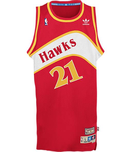 Men's adidas Atlanta Hawks NBA Dominique Wilkins Soul Jersey